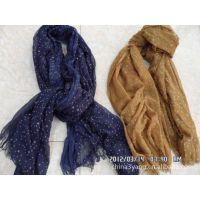 工厂直销优质时尚植绒围巾,印花围巾,
