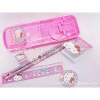 KT猫迪士尼卡通笔筒文具套装 折叠笔盒文具礼包 多功能学生用品