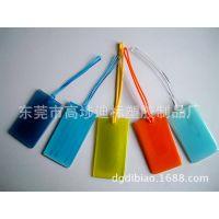 供应PVC软胶行李带,超透明塑胶行李带,透明圆形挂绳,迪标工厂生产