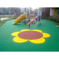 幼儿园EPDM场地 EPDM彩虹跑道 健身器材区域现浇橡胶地面