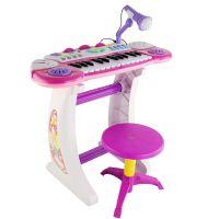 灿辉BB33D儿童益智多功能音乐玩具电子钢琴带麦克风儿童科教玩具