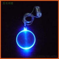 酒吧演唱会派对礼品亚克力LED闪光挂件 发光吊坠 磁吸发光项链