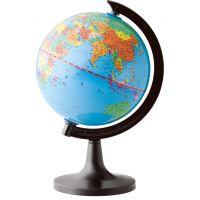 得力3032地球仪 14.2cm 新款高清 标准教学 经典中英地形