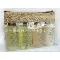 防水透明PVC化妆包 黄麻拉链化妆包