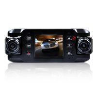 厂家直销 X8000行车记录仪 双镜头 带GPS重力感应  超广角不漏秒