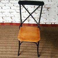 加厚铁艺桌椅 复古实木桌椅组合 做旧酒吧桌办公会客桌 餐厅家具