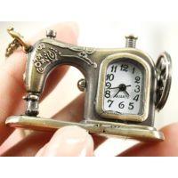 【爆款】项链表挂表挂件包 复古怀表批发 礼品表 创意缝纫机钟表