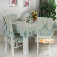 热卖 苏菲纯棉餐椅垫餐椅套坐垫桌布台布桌椅套13件套厂家直销