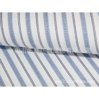 中山汇鑫 蓝色条纹 高档衬衫面料 高品质衬衣用料 T13340-2