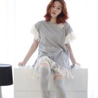 韩国睡衣春夏女士公主蕾丝纯棉性感连衣裙睡裙长裤家居服套装休闲