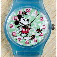 儿童动漫卡通手表 迪士尼米奇手表 PVC表带 学生时装表批发
