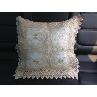 厂家加工订做 沙发靠垫 刺绣抱枕套45*45  水溶边 价格优惠