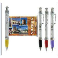 旅行社广告宣传塑胶笔 拉画笔 塑胶拉纸笔 圆珠笔 礼品笔