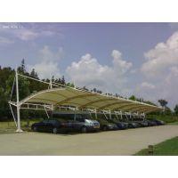 湖南户外遮阳停车棚施工张拉膜车棚钢膜结构汽车隔热棚