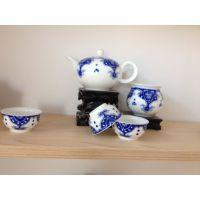 精美陶瓷礼品茶具套装定做 高档手绘陶瓷礼品茶具