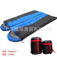 冬季1.8kg加厚保暖 情侣拼接 信封带帽野营睡袋