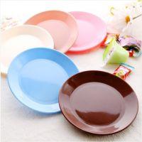 塑料碟子 餐具小碟子 零食瓜子平底盘子 小吃碟 多彩迷你碟子批发