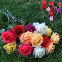 热销推荐 新款正品特价仿真植物仿真绢花玫瑰花 厂家直销 批发
