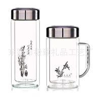 保温杯特价2只一套双层玻璃杯子 定制定做刻字礼品男士女士随手杯