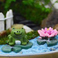 zakka树脂工艺品 迷你园艺小青蛙3件套 苔藓多肉微景观配件B0150