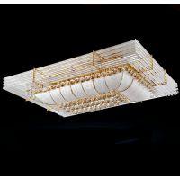 工厂直销 LED水晶灯具 金色长方形正方形餐厅客厅吸顶灯 一件起批