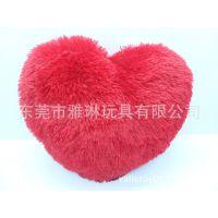 来图加工心形抱枕长毛抱枕工厂专业生产