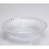 供应青苹果网格玻璃盘/四季飘香果盘/新款透明玻璃盘