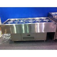 广州番禺烤的住烧烤店冷柜设备/韩国烤肉冷藏保鲜操作台/三文治冷柜