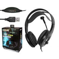 KOMC 9200头戴式 USB大耳机 游戏耳机超重低音超震憾音效带麦耳机