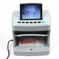 供应高品质出口5.6寸CRT显示器红外紫光水印磁检高级验钞机V100