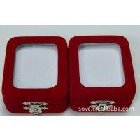 高档珠宝首饰包装盒 大号玻璃面平绒盒WA05 翡翠玉器挂件包装盒子