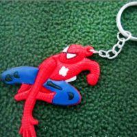 厂家批发 卡通人物蜘蛛侠钥匙扣 创意时尚钥匙扣 PVC软件胶饰扣