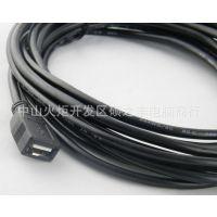 供应USB线厂家 USB数据线3米 USB加长线 黑色USB延长线 电脑线材批发