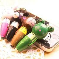 木质卡通手机链 动物随身笔圆珠笔手机挂件  BL154