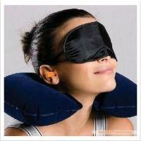 A4014批发家居用品U枕护颈枕 充气枕 U型枕头 超值盒装三件套