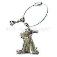 【交货及时】立体人物钢丝绳 维也圈车挂饰 锌合金匙扣