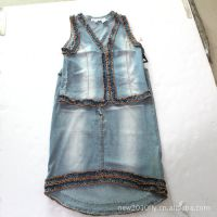 复古款牛仔女装套裙厂家一手货源批发女式套裙半身裙套装裙装