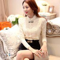 蕾丝打底衫新款韩版大码女装加厚加绒打底衫