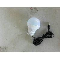 厂家直销DC12V2米线带、挂钩的LED5W球泡灯