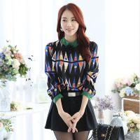 2014秋冬新款打底衫 韩版大码女装长袖打底衫上衣立领衬衫女 加绒