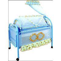 贺联256婴儿床大小双睡床带蚊帐童床批发
