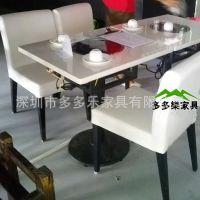 厂家定制 大理石餐桌 火锅餐桌椅 配套桌椅家具 深圳提供安装