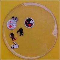 【创意礼品】供应简约透明塑胶杯垫 滴胶夜光杯垫
