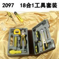 五金家用组合工具高档进口PU皮工具组合螺丝刀精匠18合1工具2097