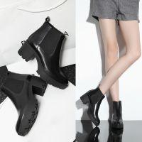 欧洲站秋冬女靴子新款真皮马丁靴防滑厚底粗跟短靴韩国外贸牛皮靴