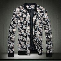 供应批发一件代发男装 时尚潮流大码男夹克 花外套 ZJ2t14JK05