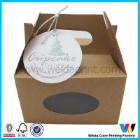 开窗 加吊牌手提蛋糕盒节日包装纸盒 专业印刷工厂定做