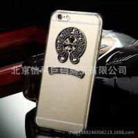 新款 iPhone6 4.7寸 plus透明亚克力克罗心手机壳保护套 厂家批发