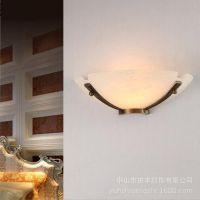 天然云石壁灯 欧式全铜卧室灯 简约风格别墅家居灯饰 厂家定制