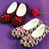 仿羊绒 保暖防滑家居女 地板鞋 拖鞋 可爱蝴蝶结 蜜糖饰家 批发